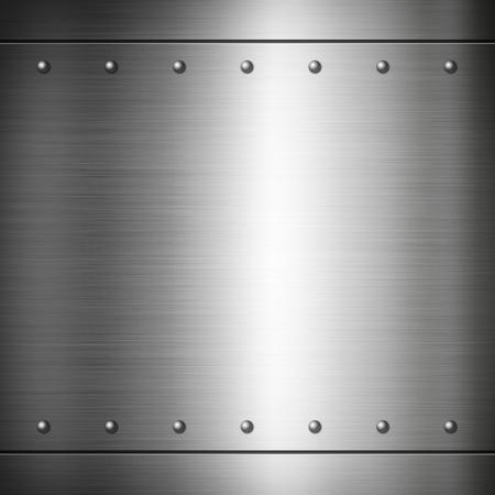 Acero remachado cepillado placa de textura de fondo