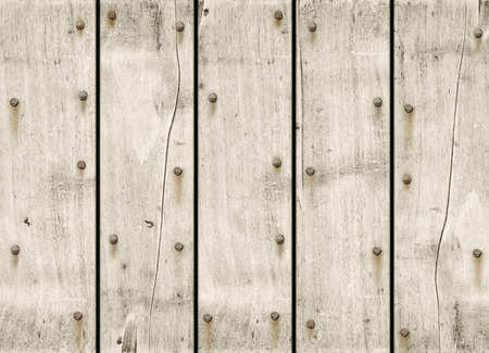 nailed: old white wood background texture wallpaper Stock Photo