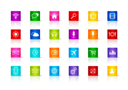 Desktop Icons collection. Isolated on a white background