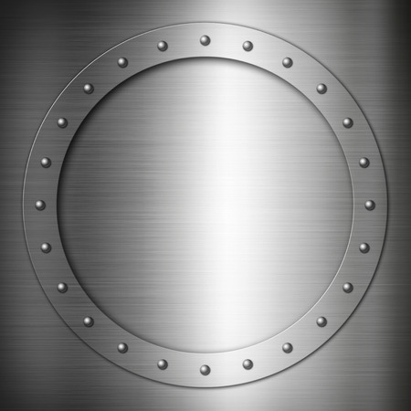 rivets: Brushed Steel round frame background texture wallpaper