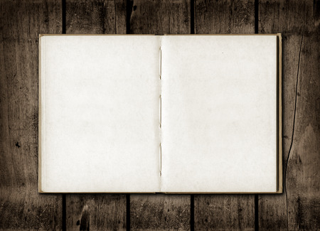 sketch book: Blackboard on a old dark wood wall background texture Stock Photo