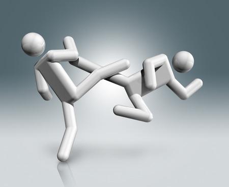 dimensional: three dimensional taekwondo symbol,