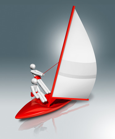 three dimensional: three dimensional sailing symbol, sports competition games