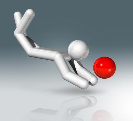 three dimensional: three dimensional beach volleyball symbol,