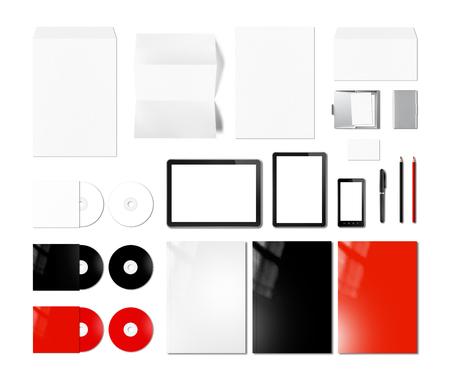marca libros: Branding plantilla de diseño maqueta identidad, aislado en fondo blanco Foto de archivo