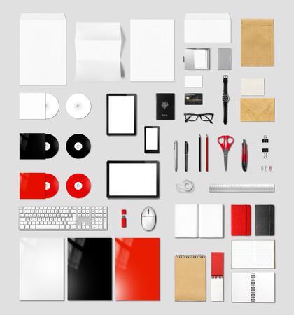 marca libros: Plantilla maqueta productos de marca, aislado sobre fondo gris