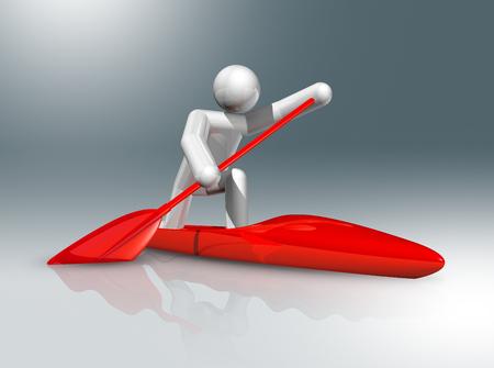 figure: three dimensional canoe sprint symbol, olympic games