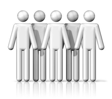 figura humana: tres dimensiones grupo de gente del palillo figuras - blanco