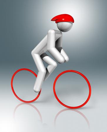 dimensional: three dimensional cycling road symbol