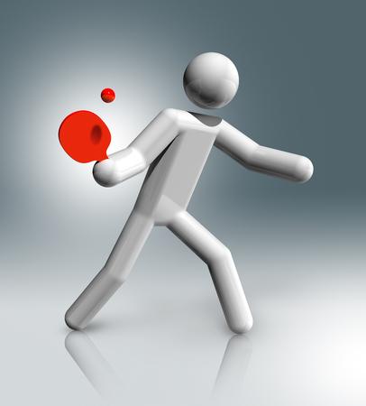 three dimensional: three dimensional table tennis symbol