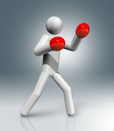 figura humana: tres dimensiones s�mbolo de boxeo Foto de archivo