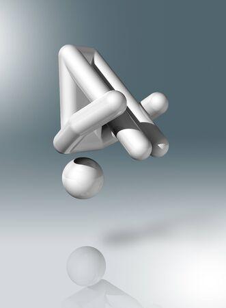 strichm�nnchen: dreidimensionalen Gymnastik Trampolin Symbol, Olympische Spiele