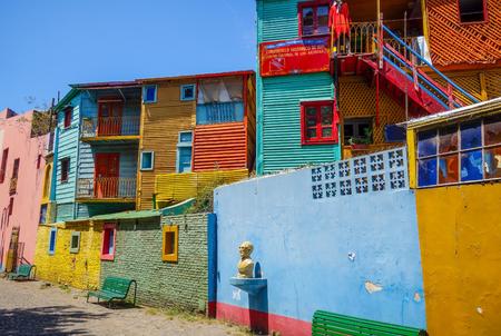 Kleurrijke huizen in Caminito, Buenos Aires, Argentinië Stockfoto - 74340416