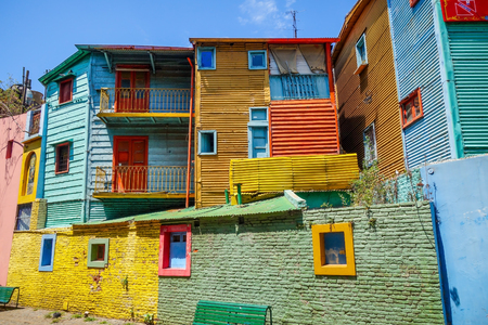 Colorful houses in Caminito, Buenos Aires, Argentina