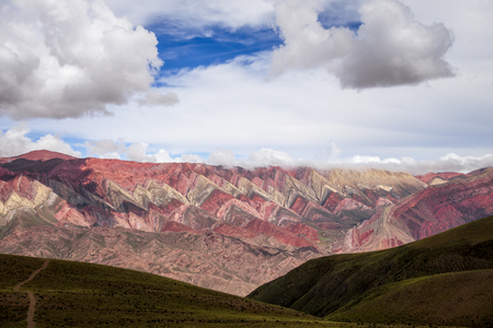 unesco: Serranias del Hornocal, wide colored mountains, Argentina Stock Photo