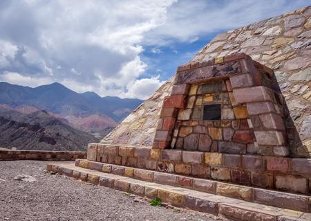 プカラ ・ デ ・ ティルカラ、コロンブスの要塞、アルゼンチン 写真素材 - 80432534