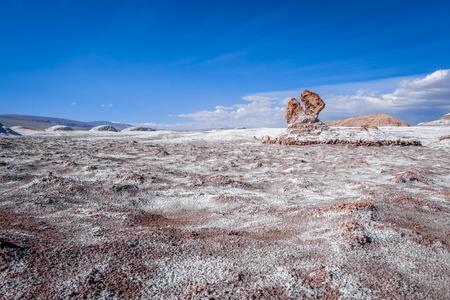Valle de la Luna landscape in San Pedro de Atacama, Chile