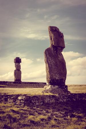Estatuas de Moais, vai ure, isla de pascua, Chile
