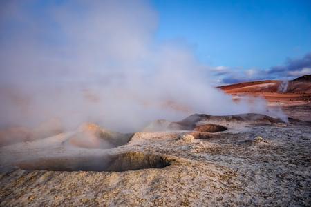 Sol de manana geothermal field in sud Lipez reserva Eduardo Avaroa, Bolivia