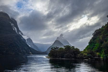 Milford Sound, fiordland national park in New Zealand Stock Photo
