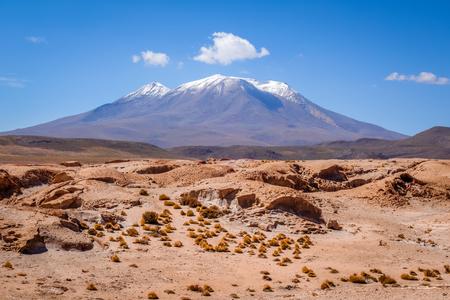 avaroa: Mountains and desert landscape in sud lipez altiplano, Bolivia Stock Photo