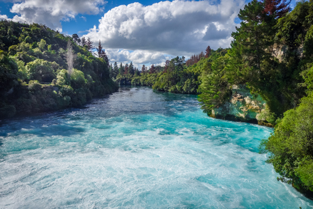 Huka falls landscape, Taupo region, New Zealand 版權商用圖片