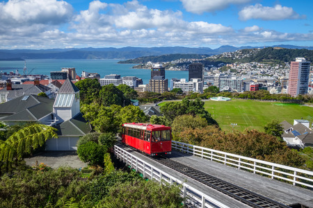 Wellington city cable car in New Zealand Zdjęcie Seryjne