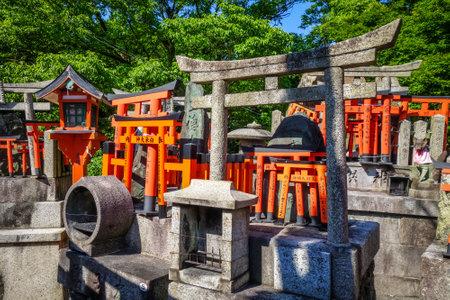 Gifts at Fushimi Inari Taisha torii shrine, Kyoto, Japan Editorial