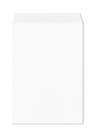 Large A4 enveloppe mockup template isolated on white background Stockfoto