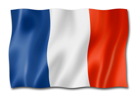 France flag, three dimensional render, isolated on white Stock Photo