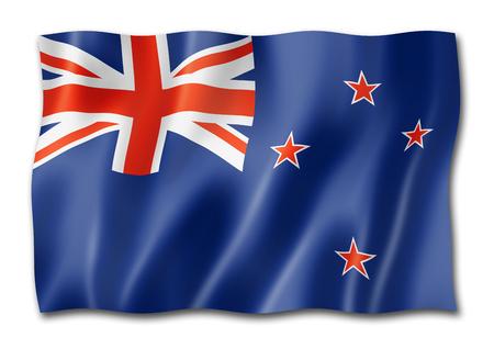 New Zealand flag, three dimensional render, isolated on white Zdjęcie Seryjne - 108002433