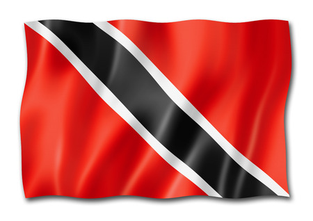 Trinidad And Tobago flag, three dimensional render, isolated on white