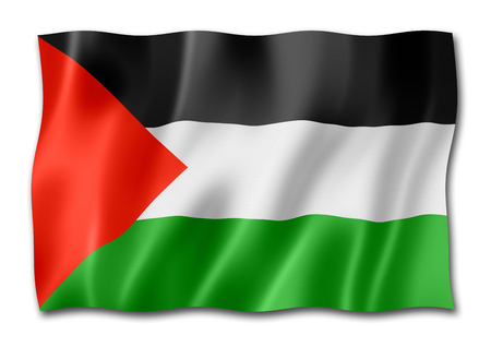 Palestine flag, three dimensional render, isolated on white Stock Photo