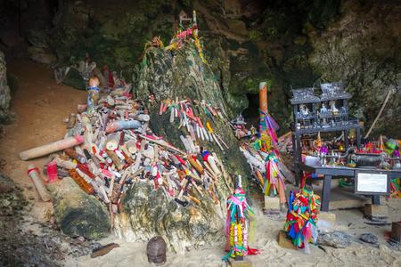 Phra Nang Cave temple in Krabi, Thailand