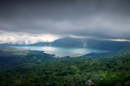Gunung batur volcano and lake in Bali, Indonesia