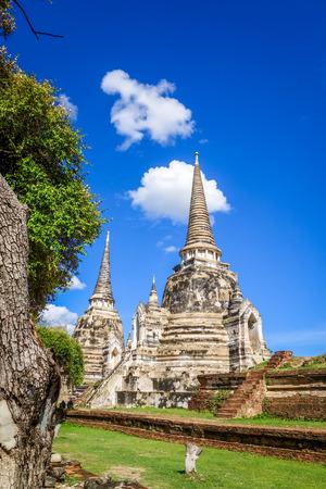 Wat Phra Si Sanphet temple in Ayutthaya, Thailand Фото со стока