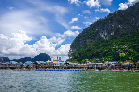 Koh Panyi fishing village in Phang Nga Bay, Thailand