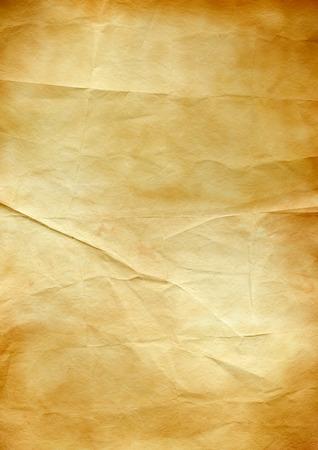 Alter brauner zerknitterter Papierbeschaffenheitshintergrund. Vintage-Tapete Standard-Bild