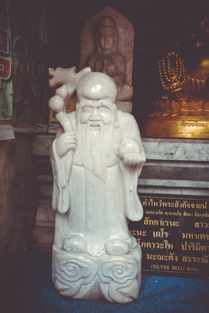 Monk statue in Wat Phra that Doi Suthep temple, Chiang Mai, Thailand