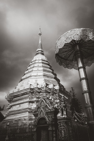 Wat Phra that Doi Suthep golden stupa in Chiang Mai, Thailand