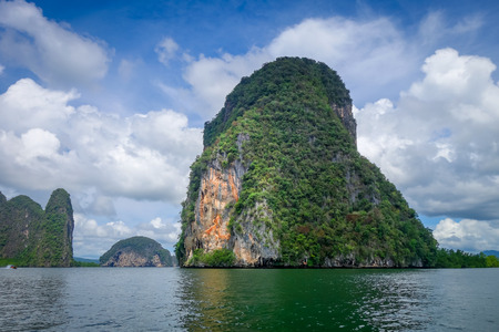 Phang Nga Bay limestone cliffs in Thailand