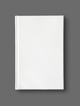 Closed blank dictionary, book mockup, isolated on grey. Top view Stock fotó