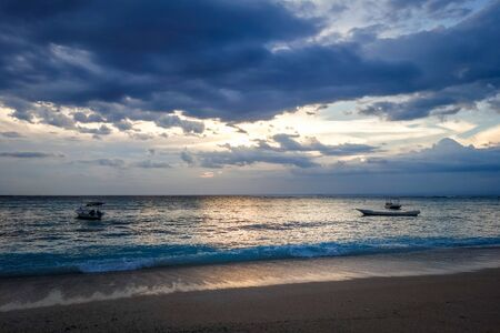Beach at sunset on Nusa Lembongan island, Bali, Indonesia