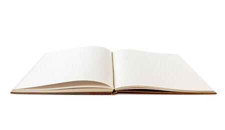 Open blank notebook mockup, isolated on white Stock fotó