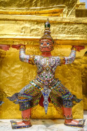 Yaksha statue in Grand Palace complex, Bangkok, Thailand