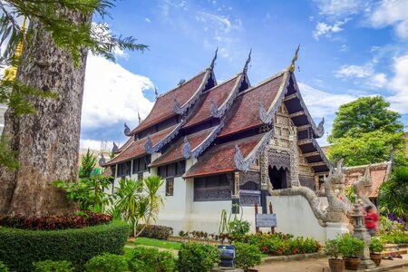 Wat Phra Singh temple buildings in Chiang Mai, Thailand