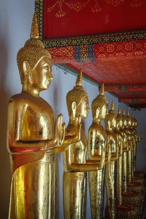 Buddha statues in Wat Pho Buddhist temple, Bangkok, Thailand Stock fotó