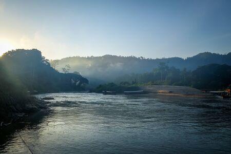 Sunrise on jungle in Taman Negara national park, Malaysia Stock fotó
