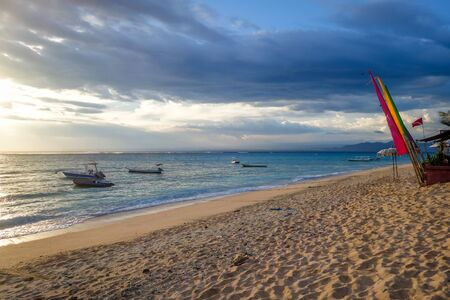 Beach at sunset on Nusa Lembongan island, Bali, Indonesia