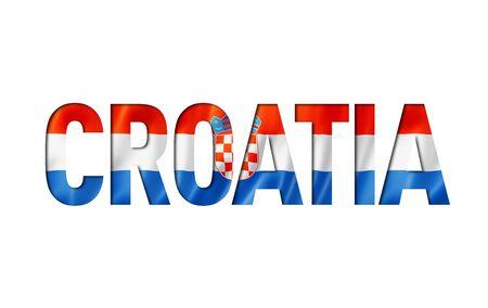 croatian flag text font. croatia symbol background